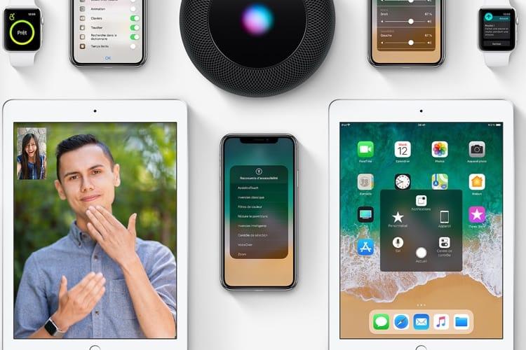 Apple France fait une place au HomePod en page d'accueil