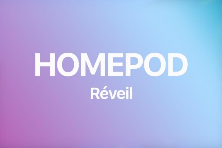 Comment se réveiller avec le HomePod