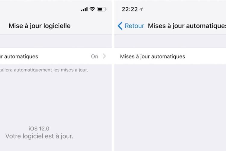 iOS 12 : une option d'installation automatique des mises à joursystème