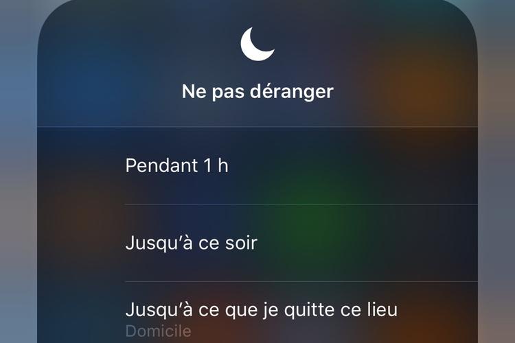 iOS12 apporte de la souplesse au mode Ne pas déranger