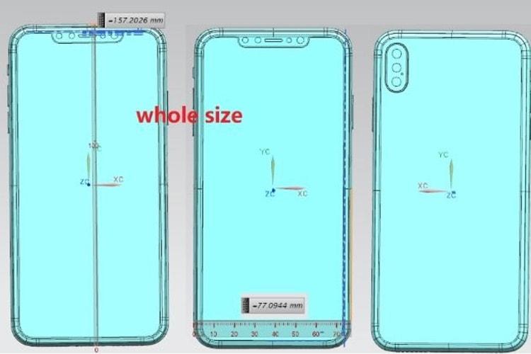 Des schémas supposés des iPhone 2018 en fuite