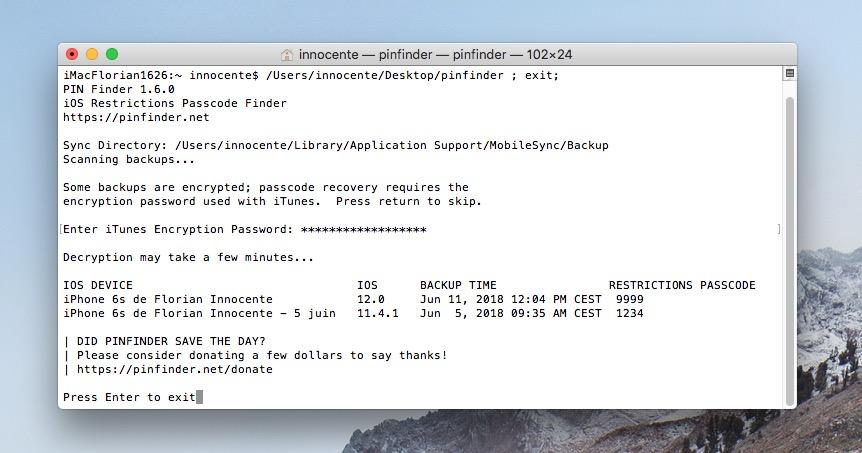 iOS : comment retrouver le code pour les restrictions d'un iPhone ou