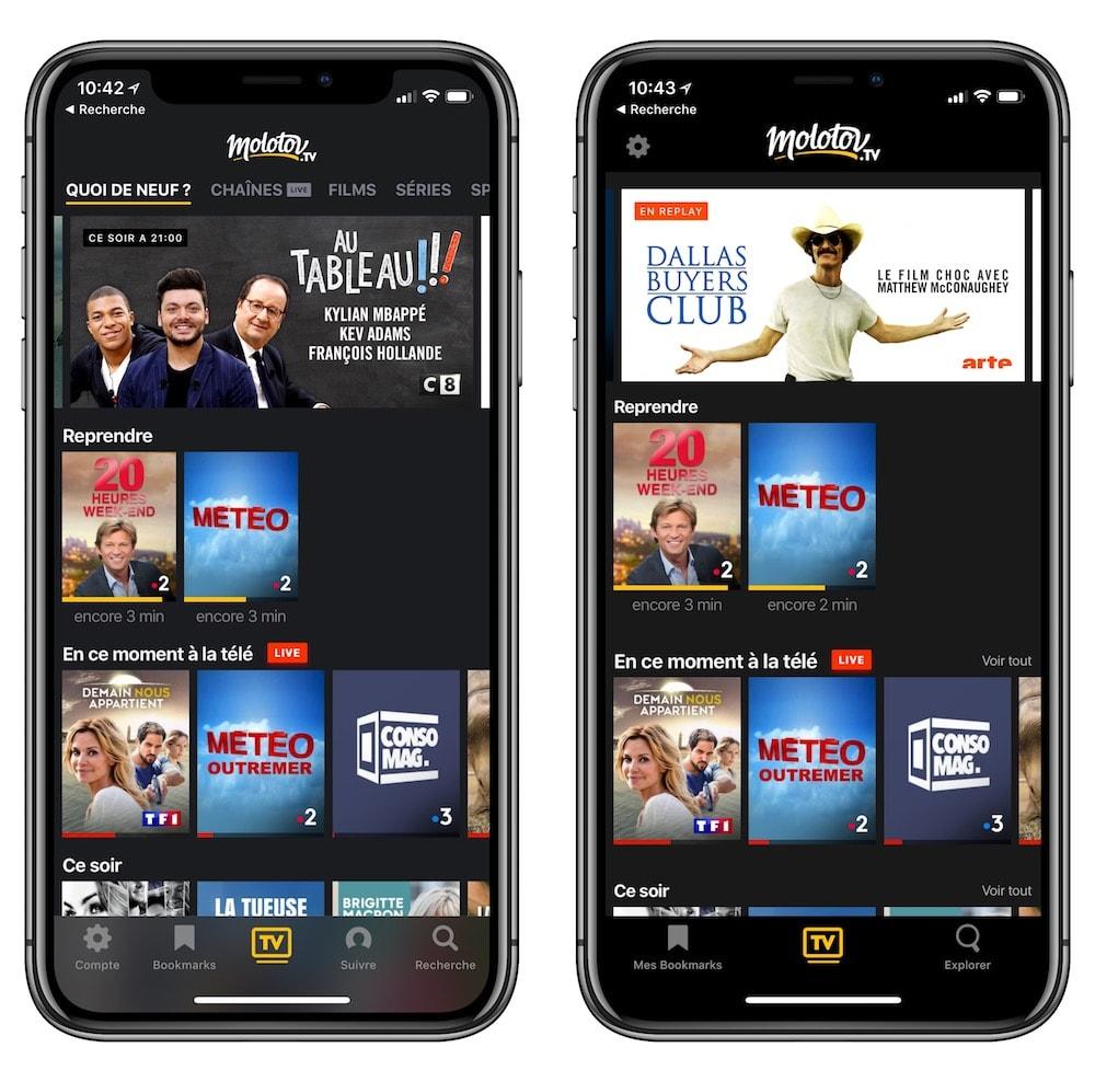d0e766b84e40 Molotov 3.0   interface allégée et connexion à l Apple TV simplifiée ...