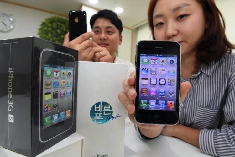 L'iPhone3GS est remis en vente, pour la blague, en CoréeduSud
