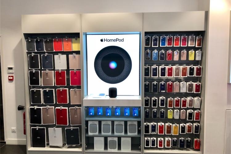 Le HomePod est en démo et en vente chez les revendeursApple