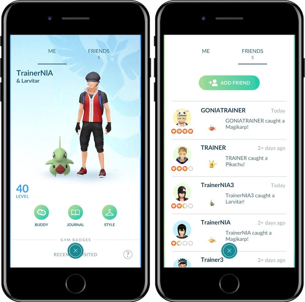 Les amis et les échanges arrivent enfin — Pokémon Go