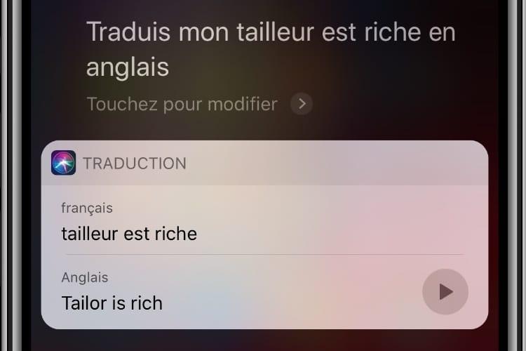 Avec iOS 12, Siri traduit du français vers une autre langue