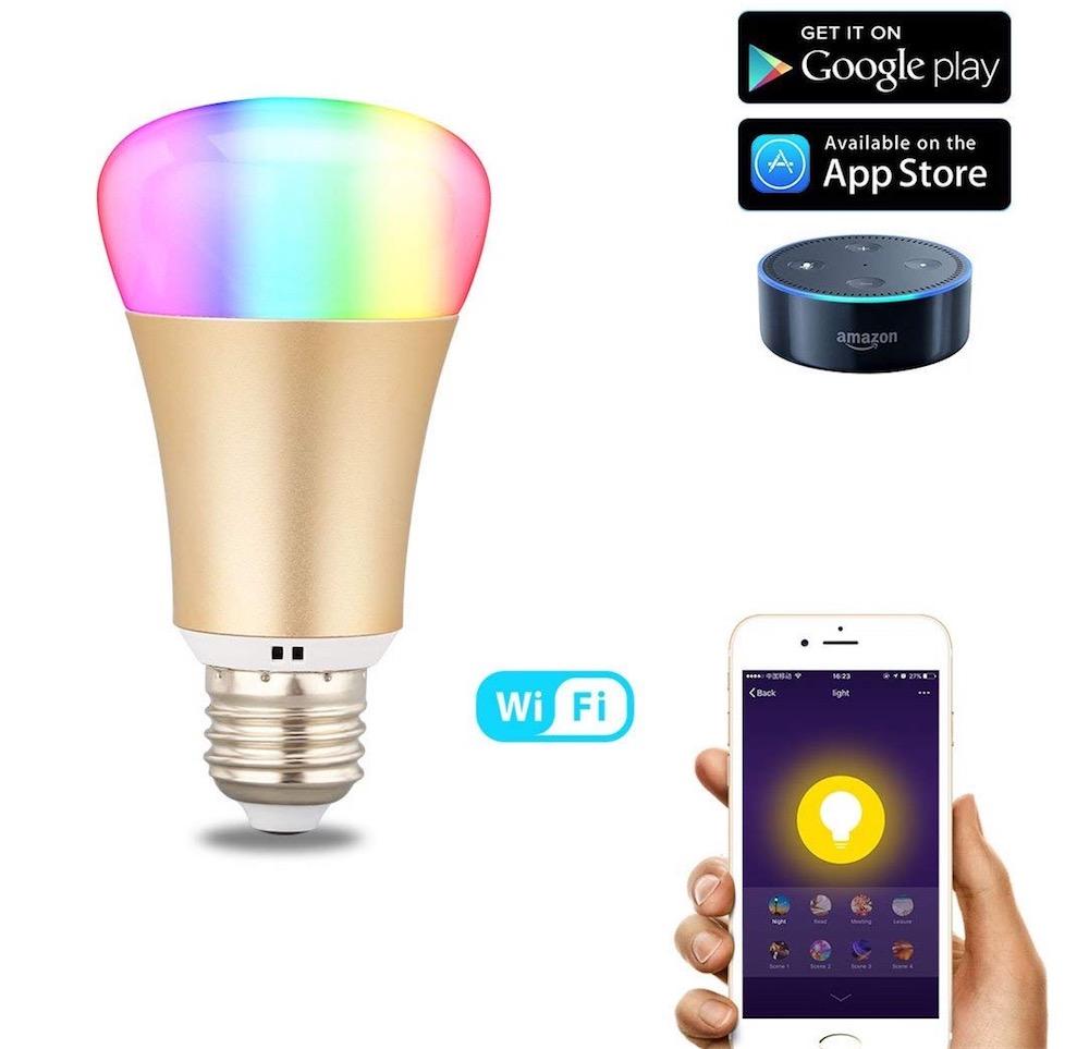 8d4615900dcd5 Ses LED peuvent reproduire toutes les couleurs que vous voulez, elle  propose aussi des fonctions de minuterie et de réveil, bref toute la  panoplie que l'on ...
